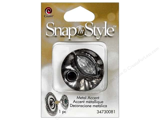 Cousin Snap In Style Accent Metal Facet Abstract