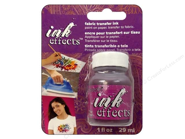 Decoart Ink Effects Fabric Transfer Ink 1 oz. Violet