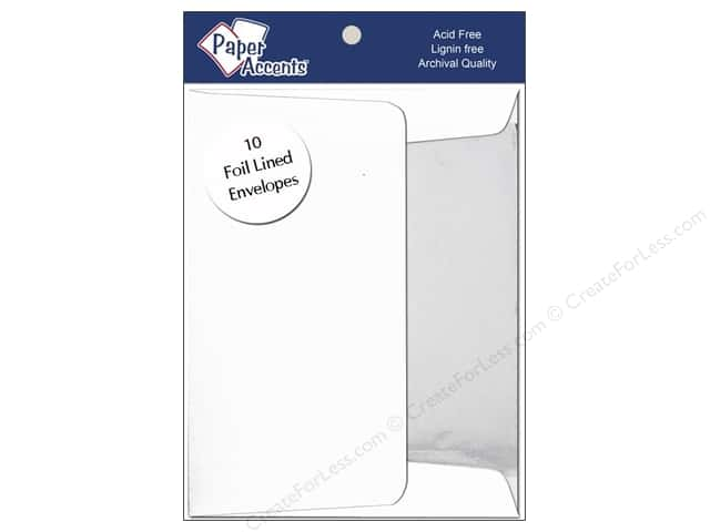 5 x 7 in. Envelopes by Paper Accents 10 pc. Silver Lined White