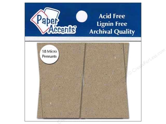 Paper Accents Chipboard Pennants 1 1/4 x 2 in. Micro Trapezoid 18 pc. Kraft