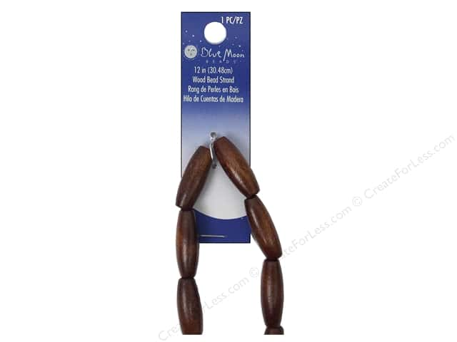 Blue Moon Beads Ranch Wood Strand 12 in. Tube Chestnut Brown