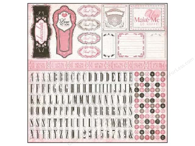 Carta Bella Alphabet Stickers Paris Girl (15 sheets)