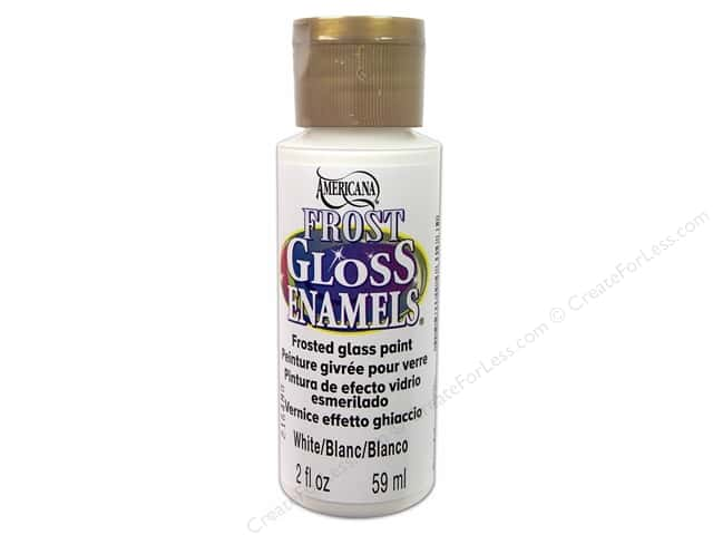 DecoArt Americana Gloss Enamel Paint Frost 2 oz. #02 White