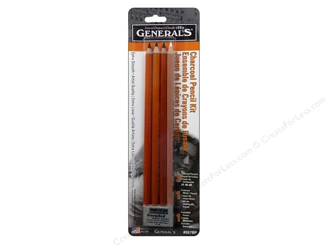 General's Drawing Pencil Set Charcoal Carded