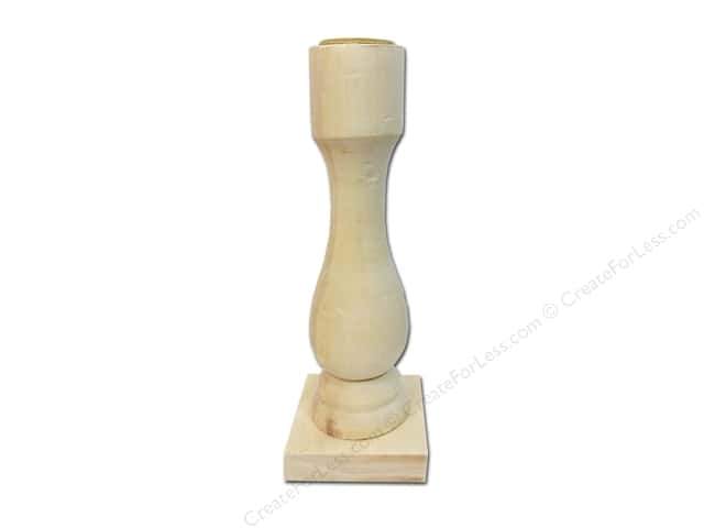 Sierra Pacific Wood Candle Stick Square Base 2 in. x 6 in. x 2 in.