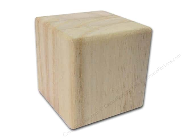 Sierra Pacific Wood Block 2 in. Square with Routed Edge (2 pieces)