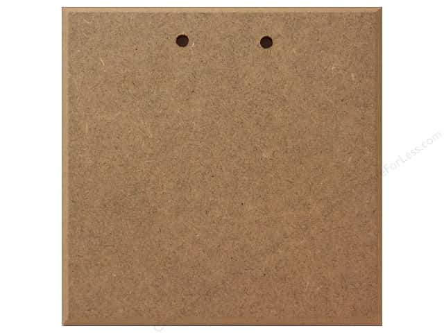 Sierra Pacific Crafts Decor Pressboard 5.5 in.  Blank Sign with 2 Holes