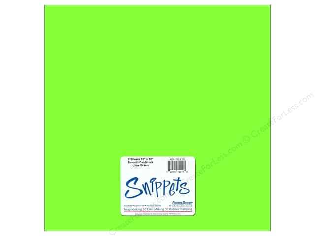 Cardstock 12 x 12 in. #113 Smooth Lime 3 pc. by Paper Accents