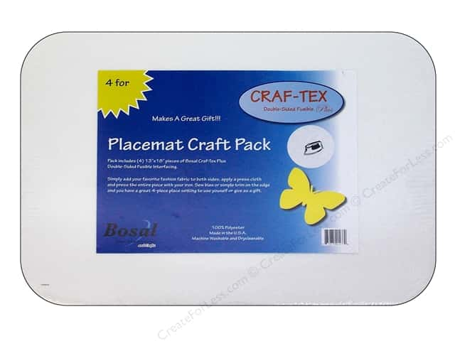 Bosal Craf-Tex Plus 13 x 18 in. Placemat 4 pc.