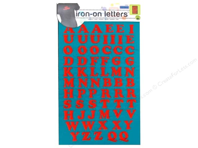 Embroidered Iron On Letters by Dritz Red