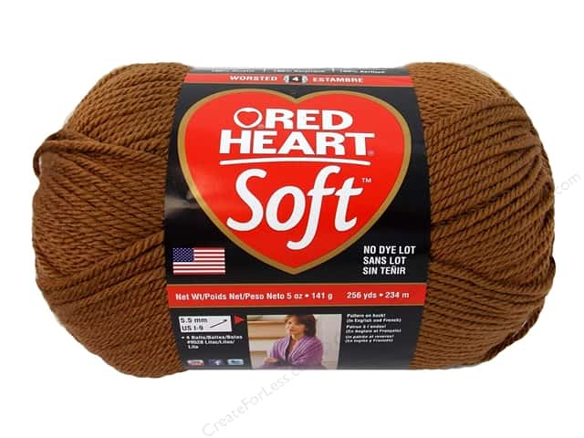 Red Heart Soft Yarn 256 yd. #1882 Toast