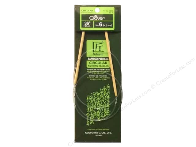 Clover Bamboo Circular Knitting Needles 36 in. Size 6 (4 mm)