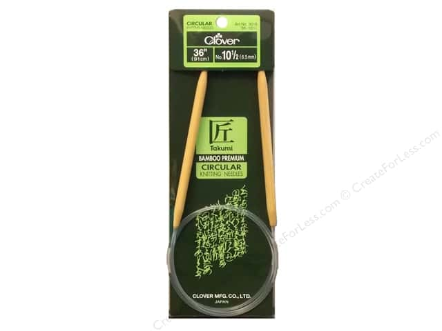 Clover Bamboo Circular Knitting Needles 36 in.  Size 10.5 (6.5mm)