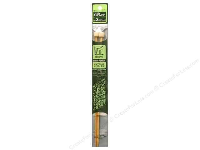 Clover Bamboo Single Point Knitting Needles 9 in. Size 3 (3.25 mm)