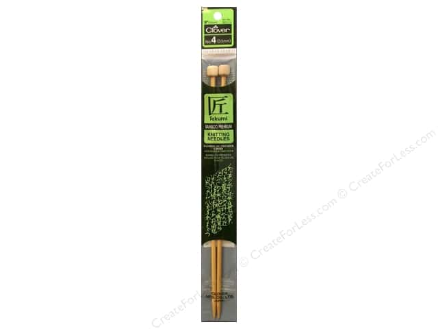 Clover Bamboo Single Point Knitting Needles 9 in. Size 4 (3.5 mm)