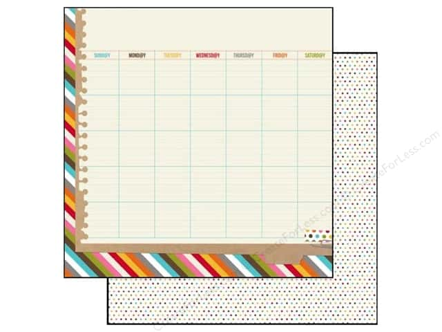 Simple Stories 12 x 12 in. Paper SN@P! Life Calendar (25 sheets)
