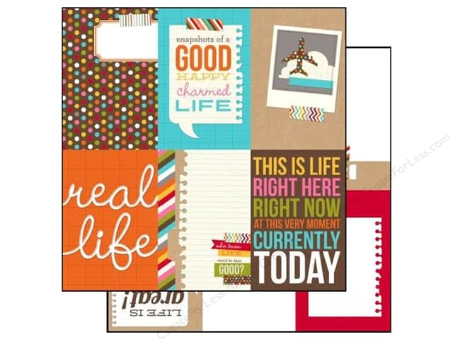 Simple Stories 12 x 12 in. Paper SN@P! Life Vertical Journaling Card Elements (25 sheets)