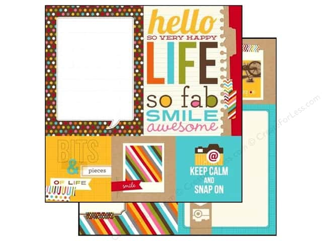 Simple Stories 12 x 12 in. Paper SN@P! Life Quote & Photo Mat Elements (25 sheets)