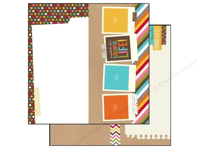 Simple Stories 12 x 12 in. Paper SN@P! Life Elements (25 sheets)