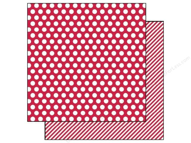 Simple Stories 12 x 12 in. Paper SN@P! Color Vibe Dot & Stripe Red (25 sheets)