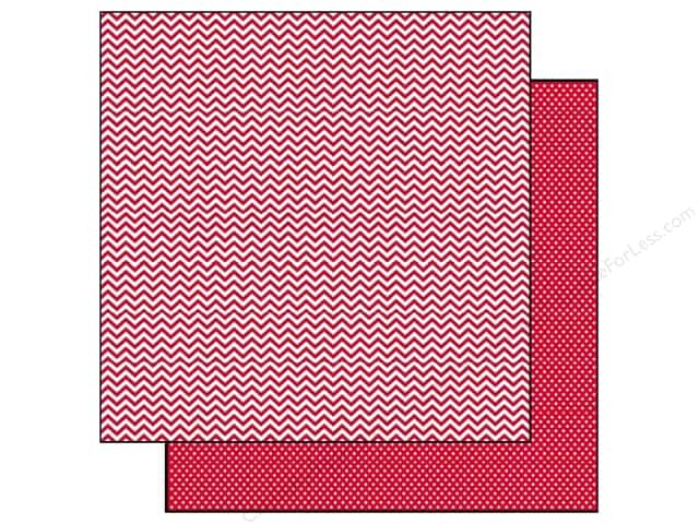 Simple Stories 12 x 12 in. Paper SN@P! Color Vibe Chevron & Mini Dot Red (25 sheets)
