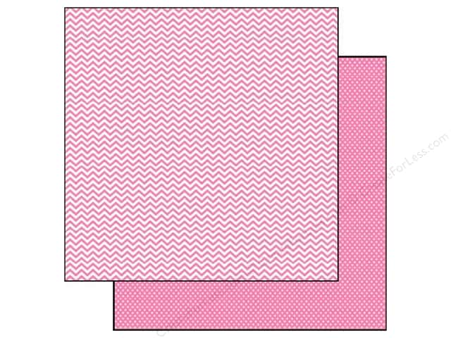 Simple Stories 12 x 12 in. Paper SN@P! Color Vibe Chevron & Mini Dot Pink (25 sheets)