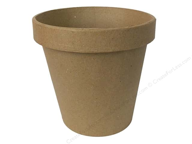 Paper Mache Terra Cotta Pot by Craft Pedlars 6 1/2 x 6 in.