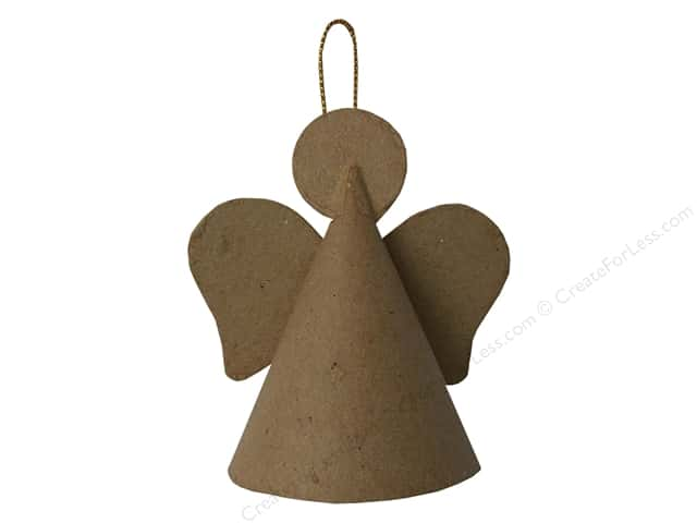 Paper Mache Cone Angel Ornament by Craft Pedlar 3 1/4 in.