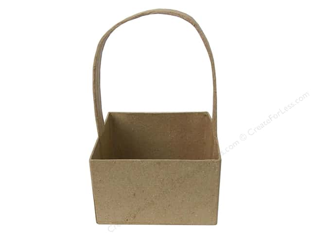 PA Paper Mache Square Basket 3 3/8 in.