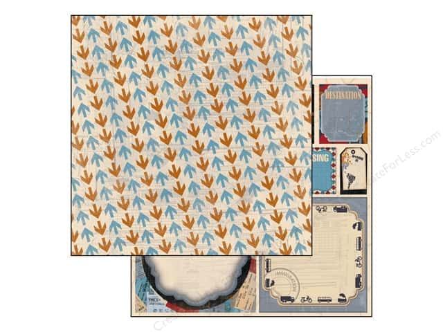 Bo Bunny 12 x 12 in. Paper Detour Collection Arrows (25 sheets)