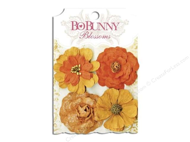 Bo Bunny Blossoms Zinnia 4 pc. Harvest Orange