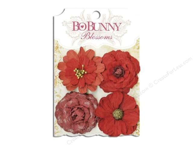 Bo Bunny Blossoms Zinnia 4 pc. Wildberry