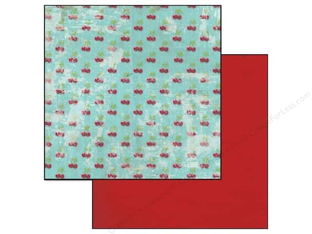 Glitz Design 12 x 12 in. Paper Cashmere Dame Cherries (25 sheets)