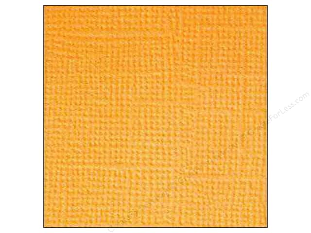 Doodlebug 12 x 12 in. Paper Textured Tangerine (25 sheets)