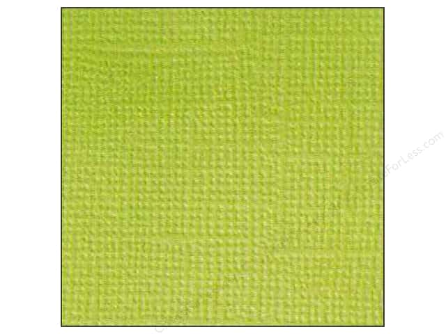 Doodlebug 12 x 12 in. Paper Textured Limeade (25 sheets)
