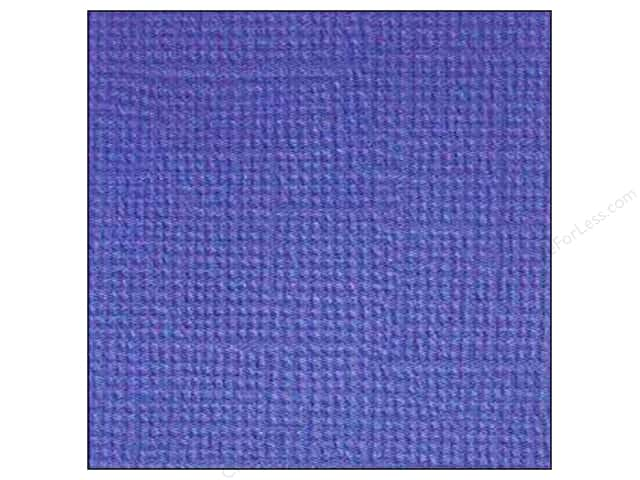 Doodlebug 12 x 12 in. Paper Textured Blue Berry (25 sheets)