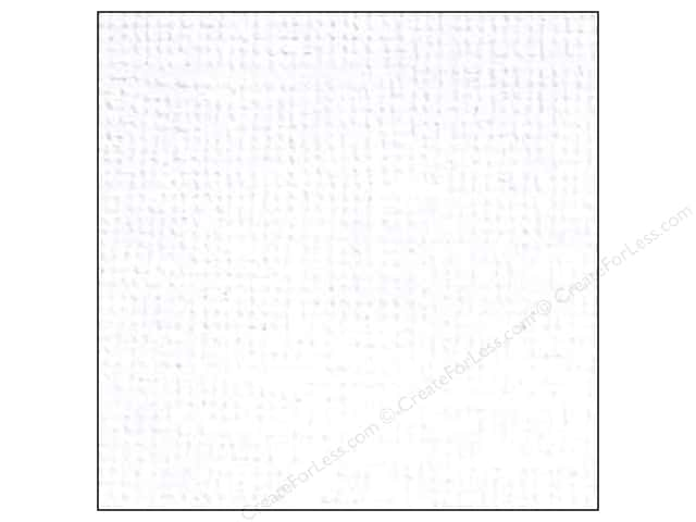 Doodlebug 12 x 12 in. Paper Textured Lily White (25 sheets)