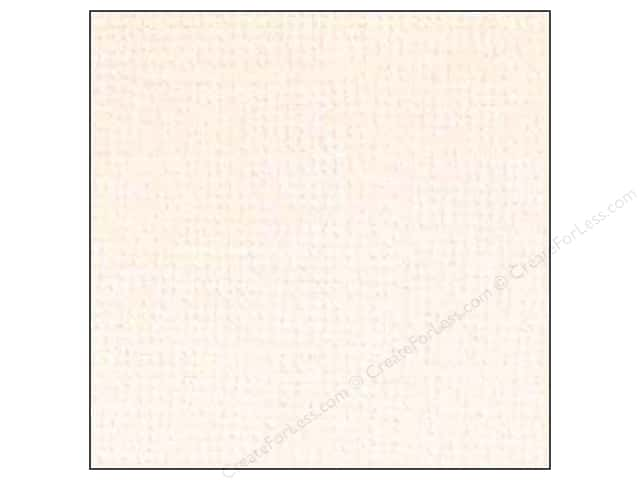 Doodlebug 12 x 12 in. Paper Textured Vanilla (25 sheets)