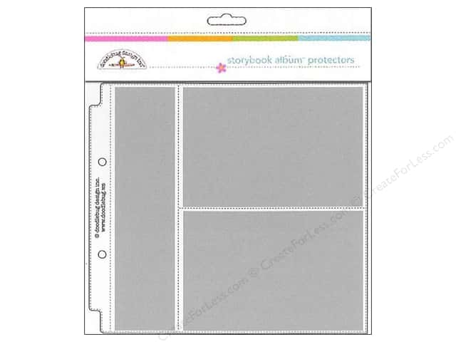 "Doodlebug Album Protector Page 8""x 8"" Horizontal Photo/Recipe Card 12pc"