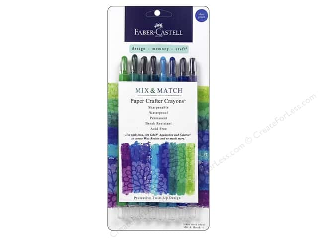 FaberCastell Mix Match Paper Crafter Crayon Mix & Match Set Blue/Green