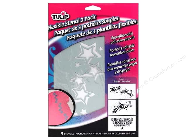 Tulip Fabric Stencil Flexible Stars