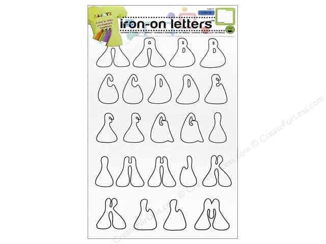 Color-In Iron-on Letters Hippie by Dritz Clear/Black