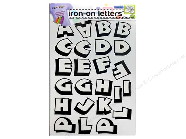 Color-In Iron-on Letters Punch by Dritz Clear/Black