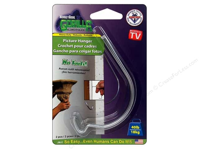 Monkey Hook Picture Hanger 40lb Gorilla Grade 2pc