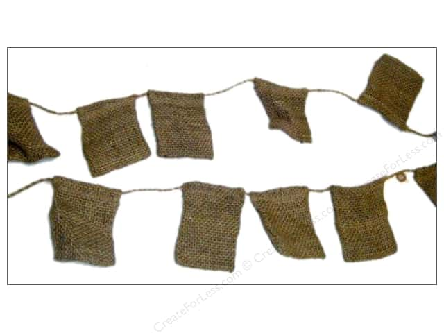 Sierra Pacific Decor Banner Burlap Bags Small Natural 12 ft.