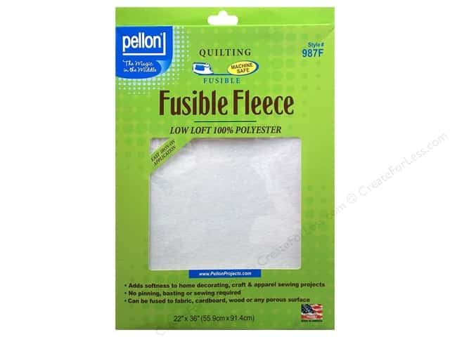 "Pellon Fleece Fusible 22""x 36"" White"