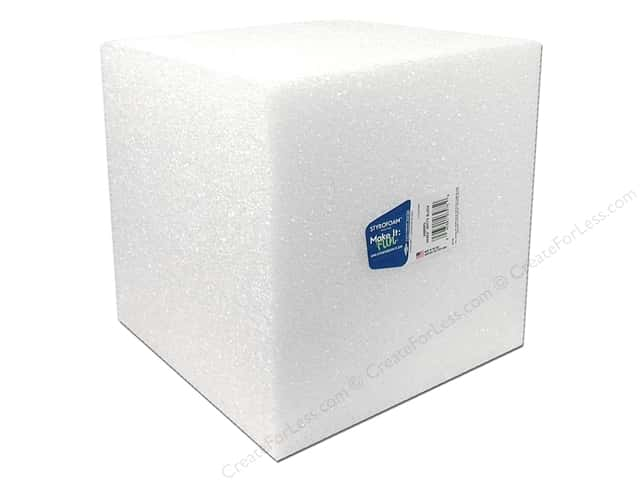 FloraCraft Styrofoam Cube 8 x 8 x 8 in. White (8 pieces)