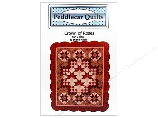 Peddlecar Quilts Crown Of Roses Pattern
