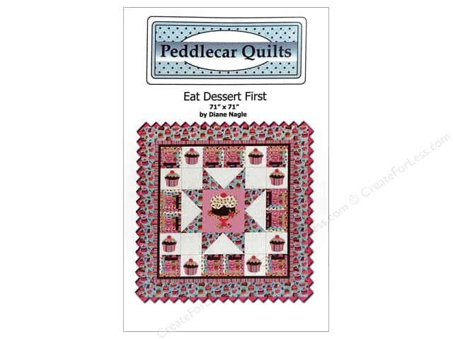 Peddlecar Quilts Eat Dessert First Pattern