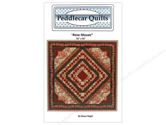 Peddlecar Quilts Rose Mosaic Pattern